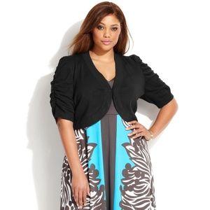 INC International Concepts Sweaters - INC Black Shrug International Concepts Bolero